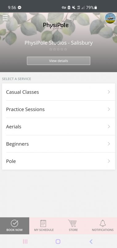 PhysiPole App - Book Now